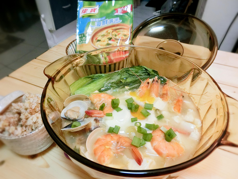 海鮮豆腐煲【10分鐘湯麵粥康寶食譜】