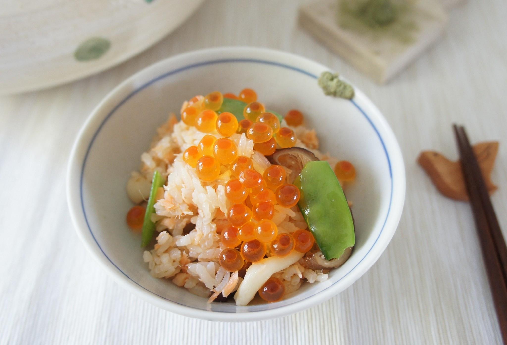 鮭魚鮮菇炊飯