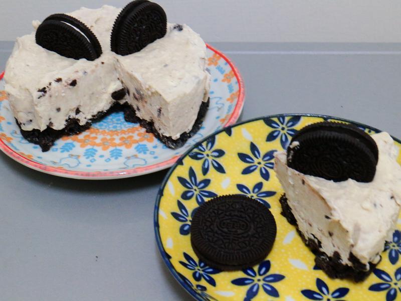不用烤箱就能做《OREO乳酪蛋糕》