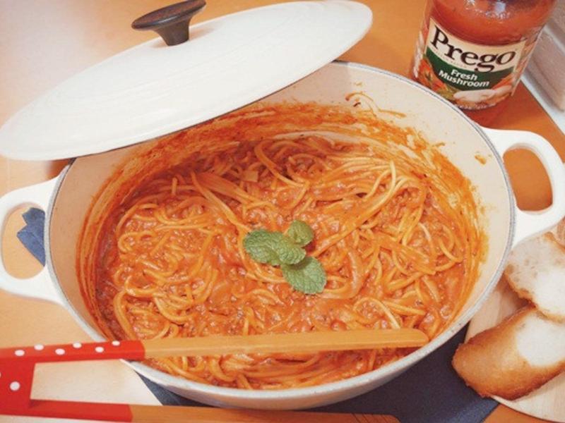 一鍋到底蘑菇肉醬義大利麵【Prego】