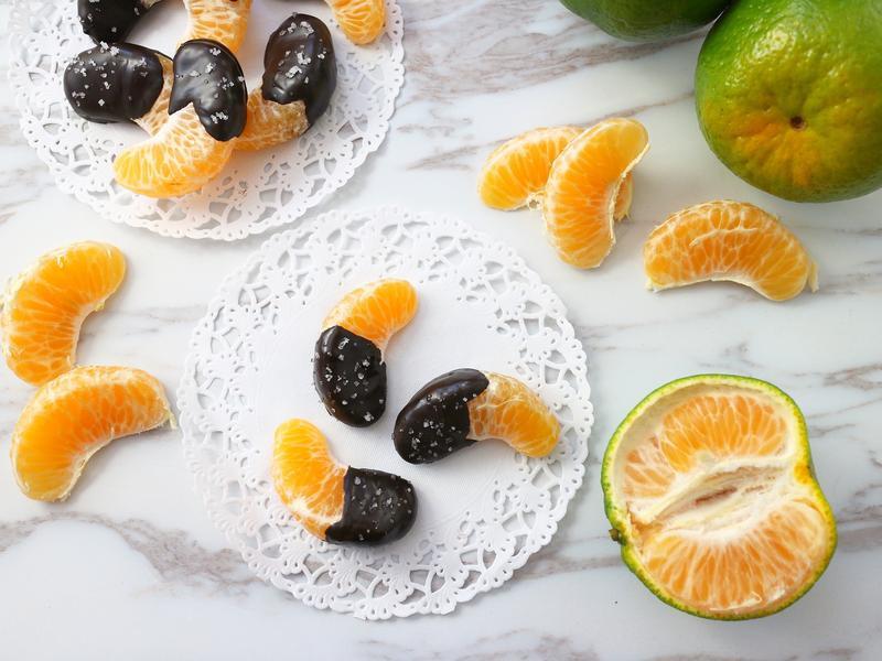 鹽之花巧克力橘片  小七食堂