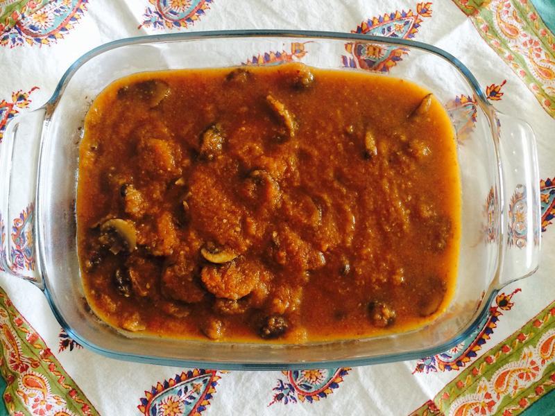印度料理香料蘑菇