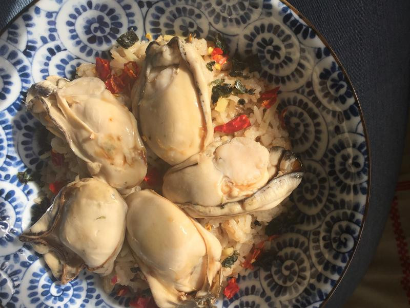 《薑絲牡蠣炊飯》