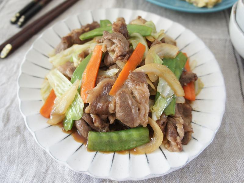 照燒野菜肉片