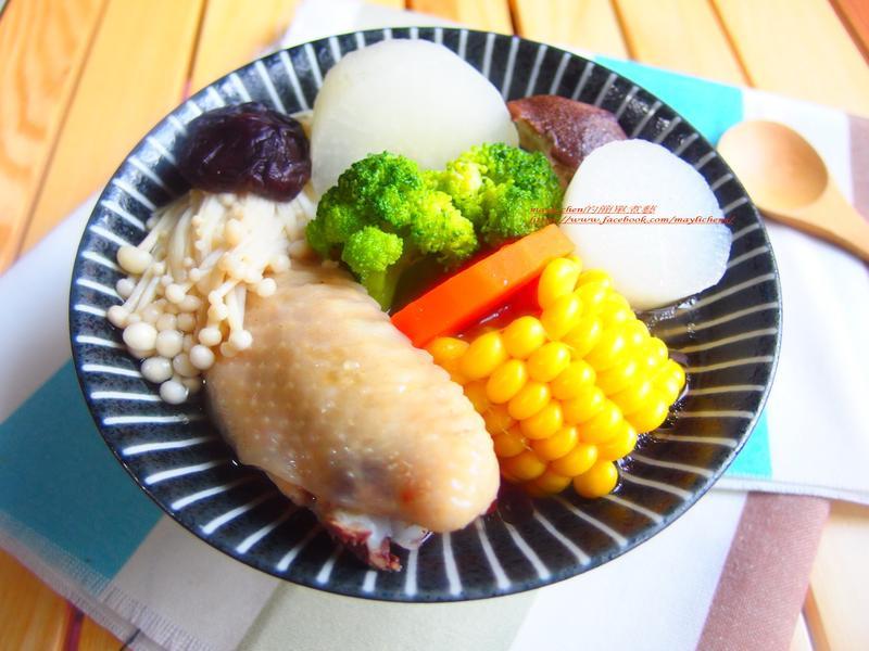 雞翅蔬菜湯-電鍋版