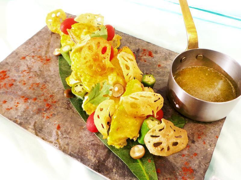 龍膽石斑魚片佐酸辣綠蓉醬