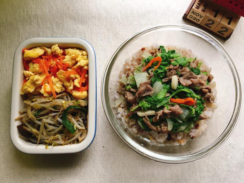 [每日便當]小白菜炒羊肉