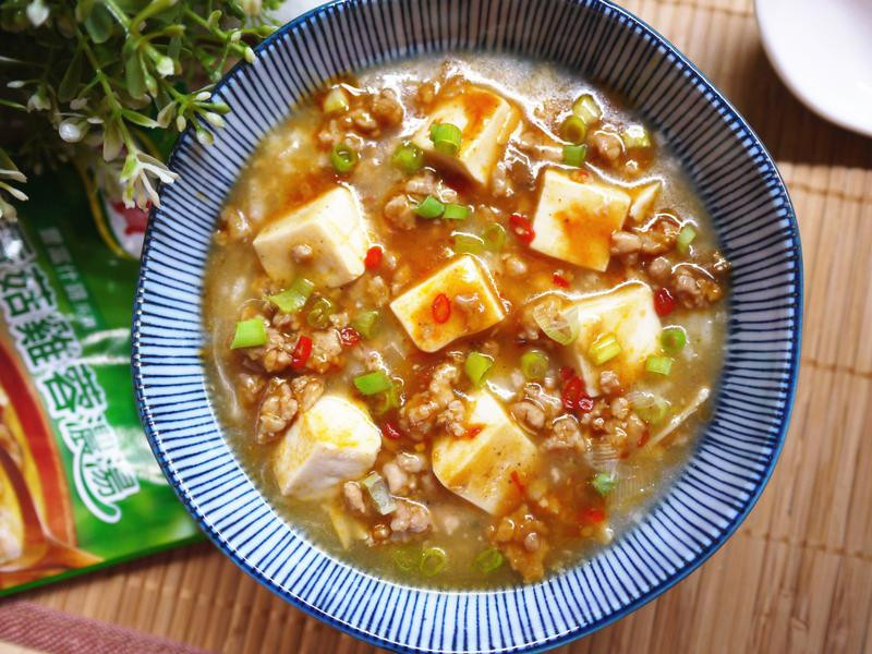 香辣麻婆豆腐粥