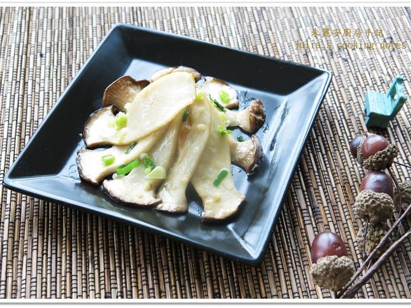 [香蔥鐵板杏鮑菇]簡易快速料理