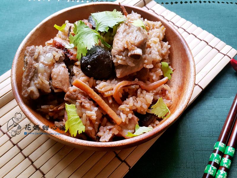 香菇魷魚排骨炊飯