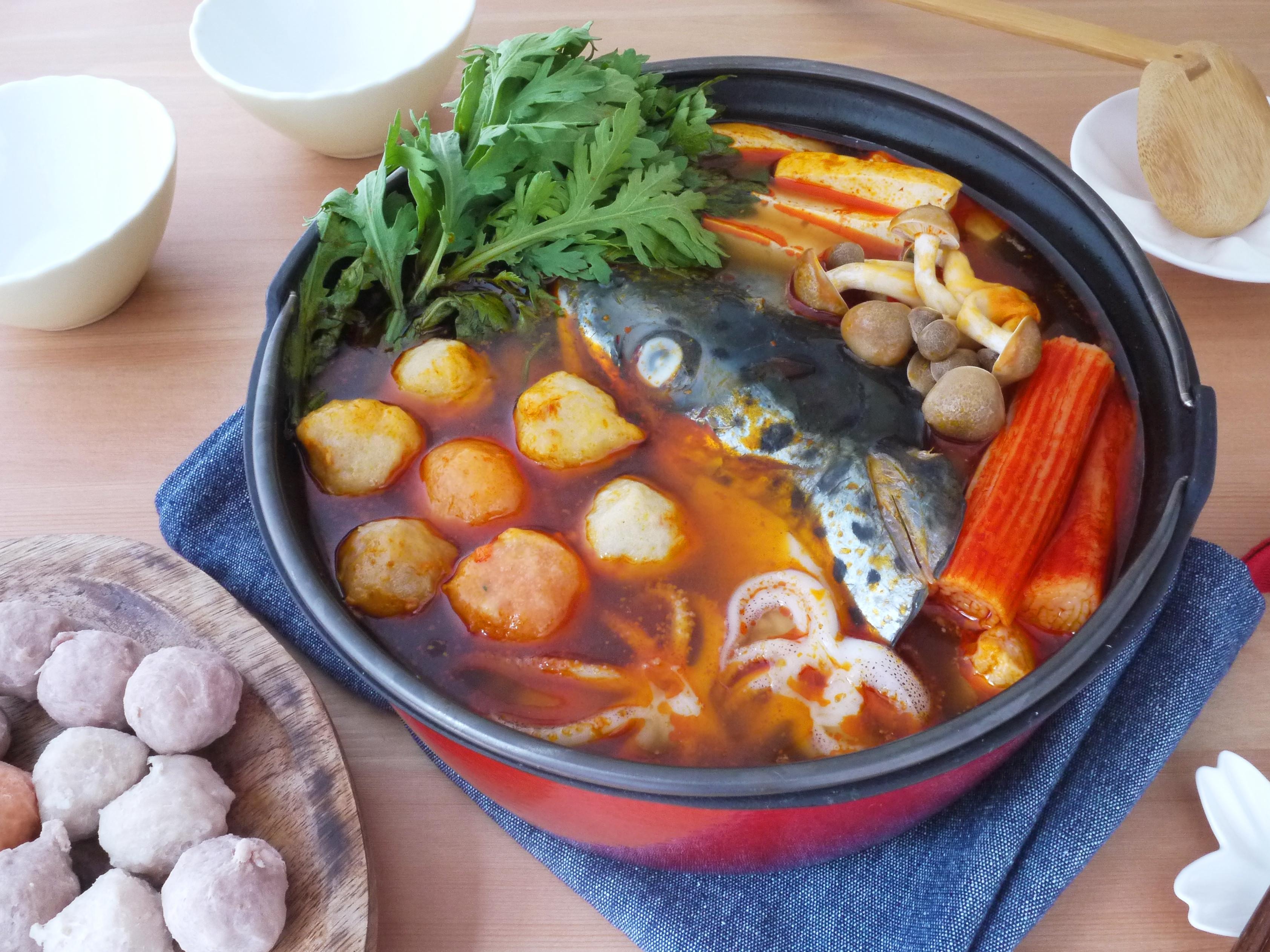 辣味噌鮭魚頭鍋【全聯火鍋祭】