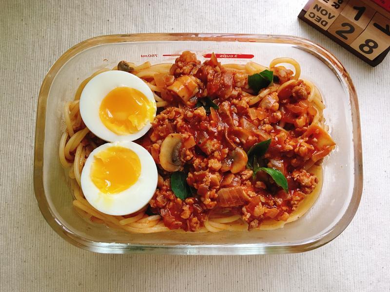 [每日便當]番茄肉醬義大利麵