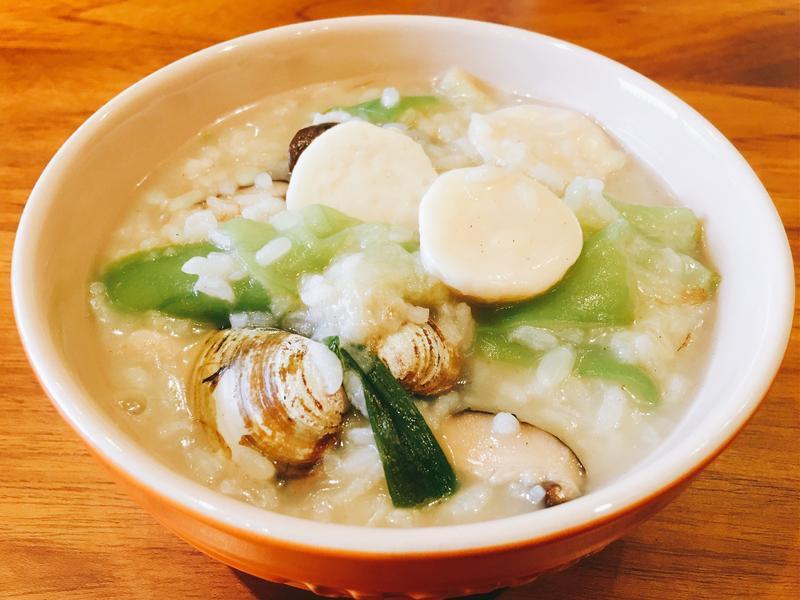 絲瓜蛤蜊粥
