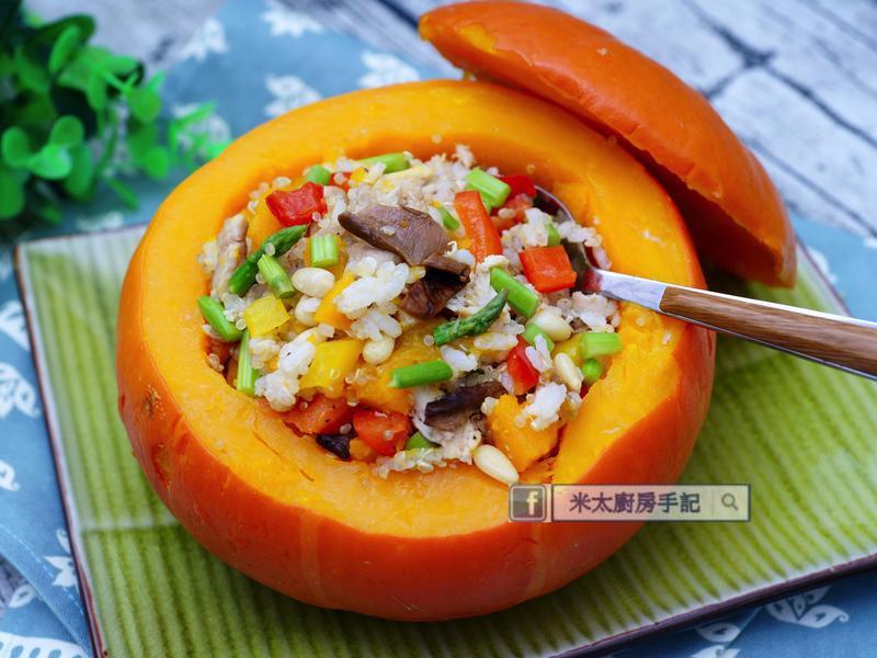 金瓜野菌雞肉藜麥飯