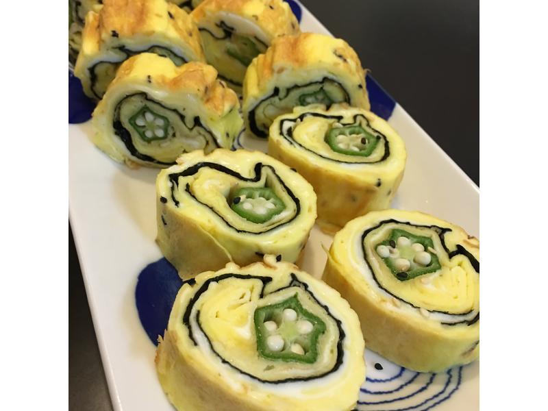 秋葵玉子燒蛋(不沾平底鍋版)