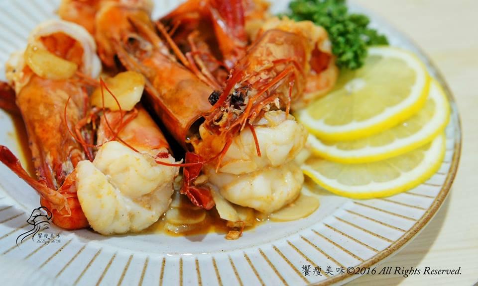 饗瘦美味-蒜香奶油檸檬鮮蝦