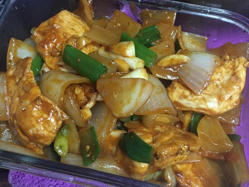 韓式辣醬炒雞胸肉