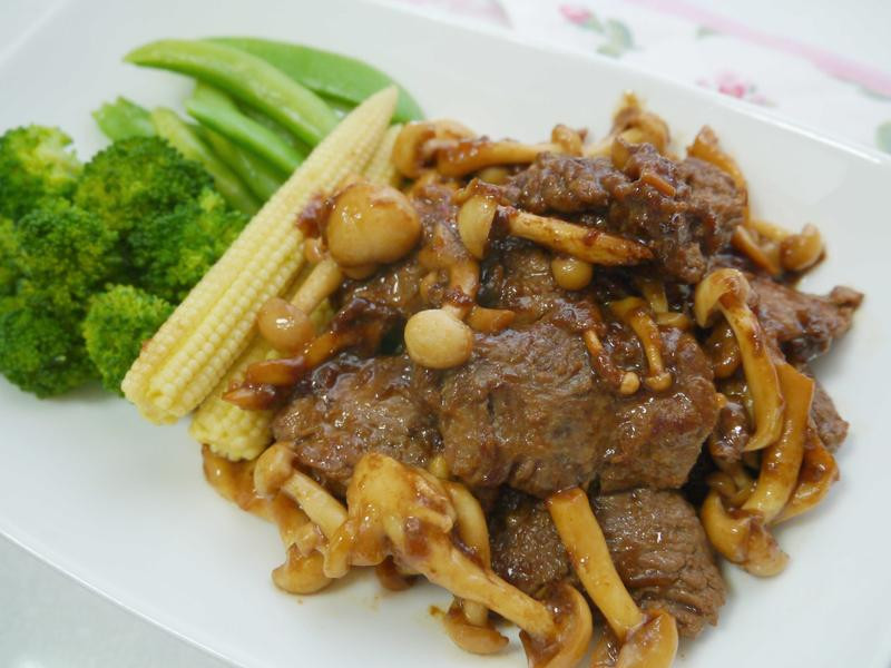 薑燒菇菇豬肉