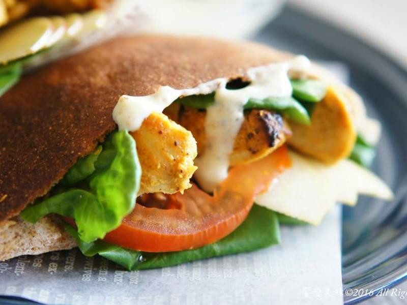 饗瘦美味-口袋麵包加坦都里烤雞