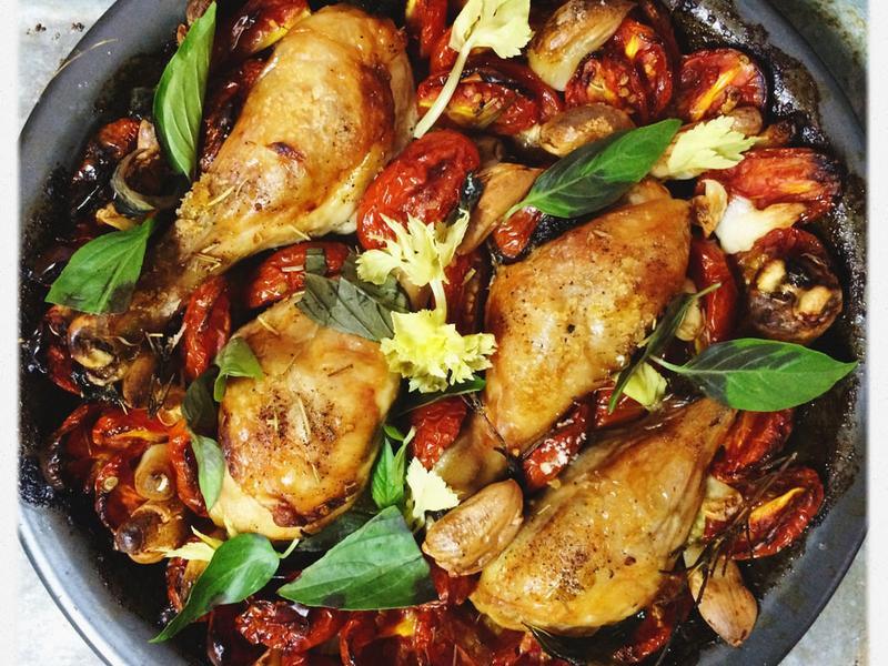 義式烤雞腿