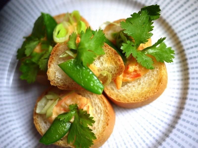 ♫下廚--朝食-前菜*法國麵包佐龍蝦沙拉醬*