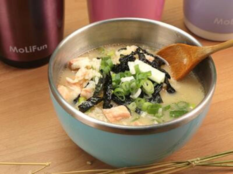 燜燒罐食譜-味噌鮭魚泡飯