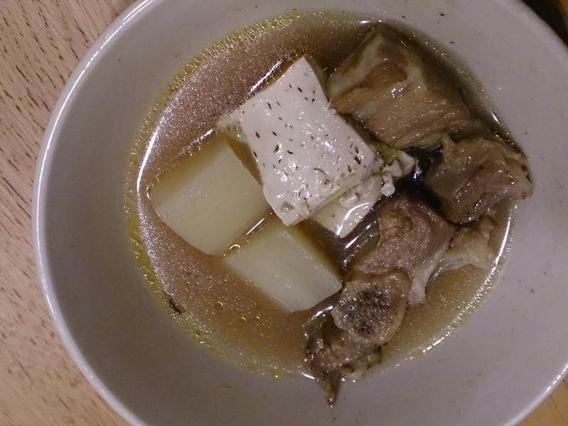 蘿蔔豆腐排骨湯
