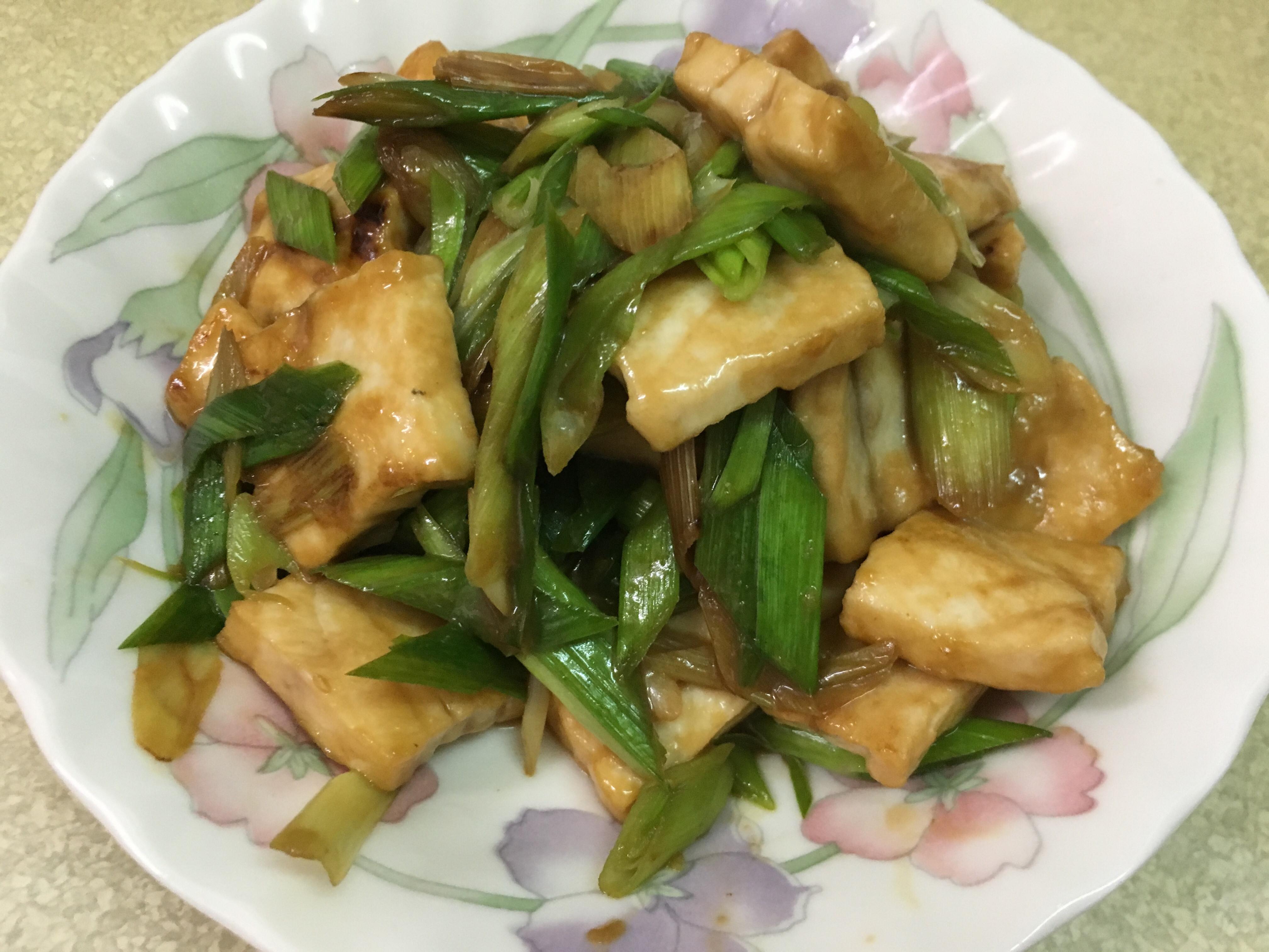 蒜苗炒旗魚