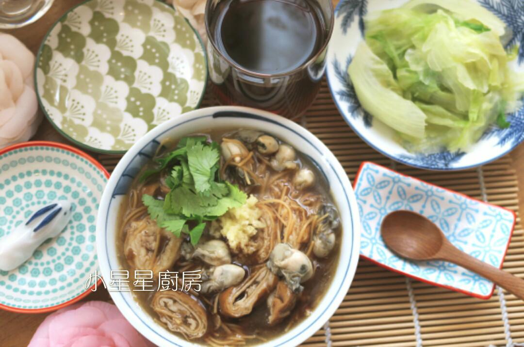 大腸蚵仔麵線&青草茶