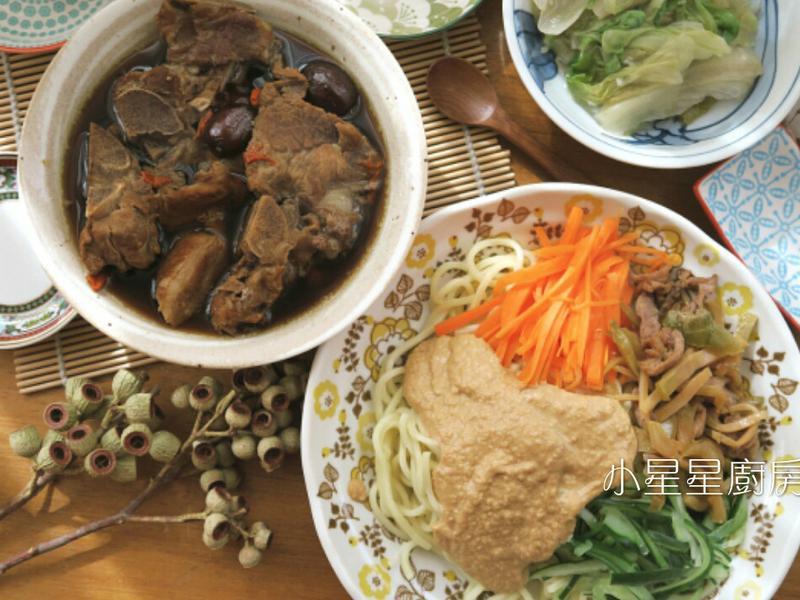 中式涼麵&十全藥燉排骨