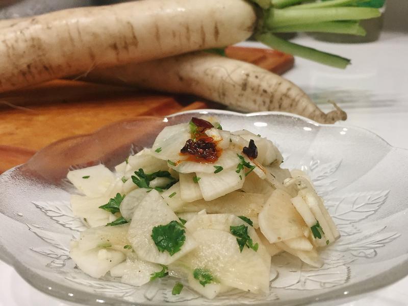 涼拌白蘿蔔片小菜