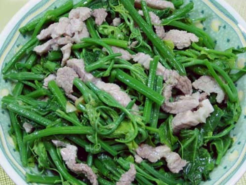 【厚生廚房】龍鬚菜炒肉絲