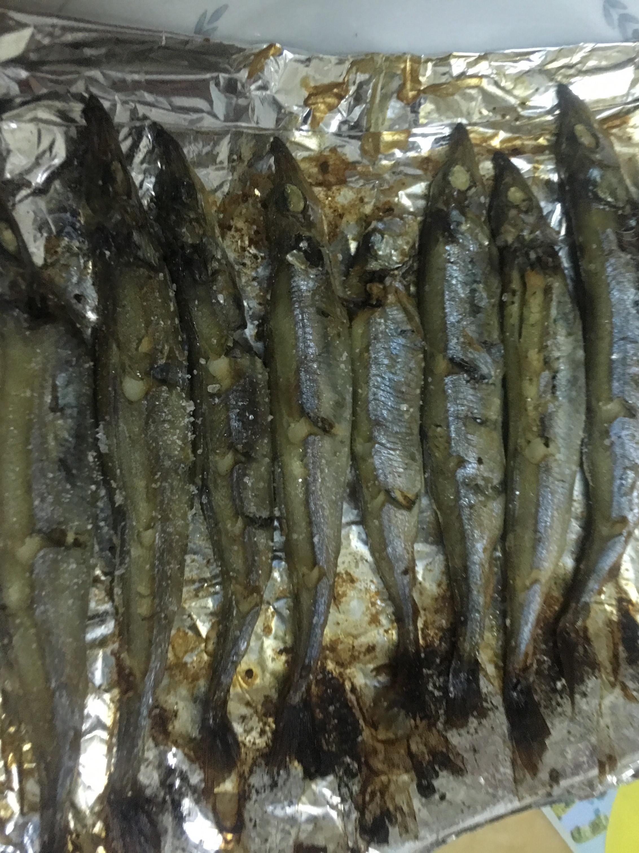 小烤箱烤柳葉魚