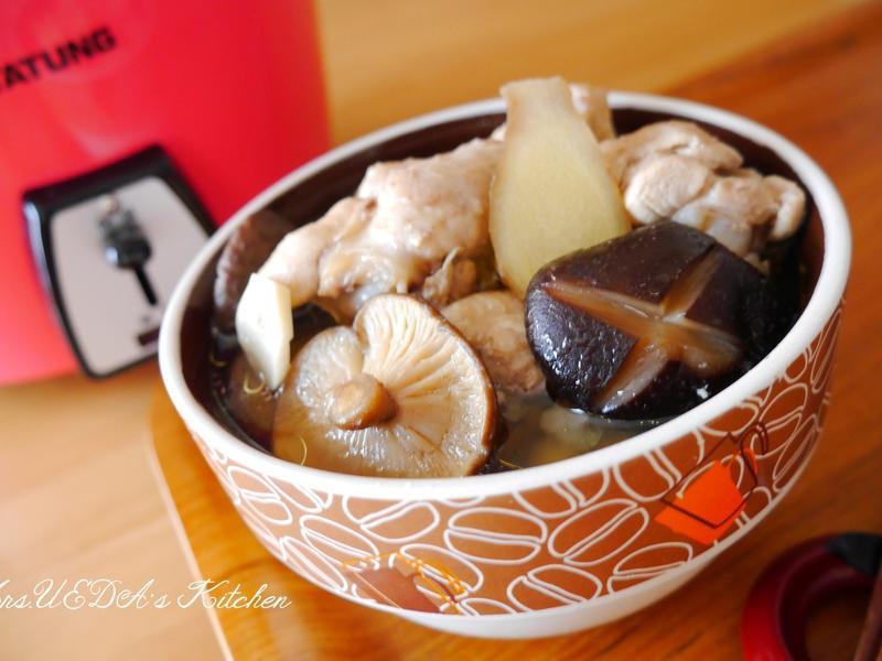 【簡單電鍋食譜】冬季暖心「人蔘香菇雞湯」