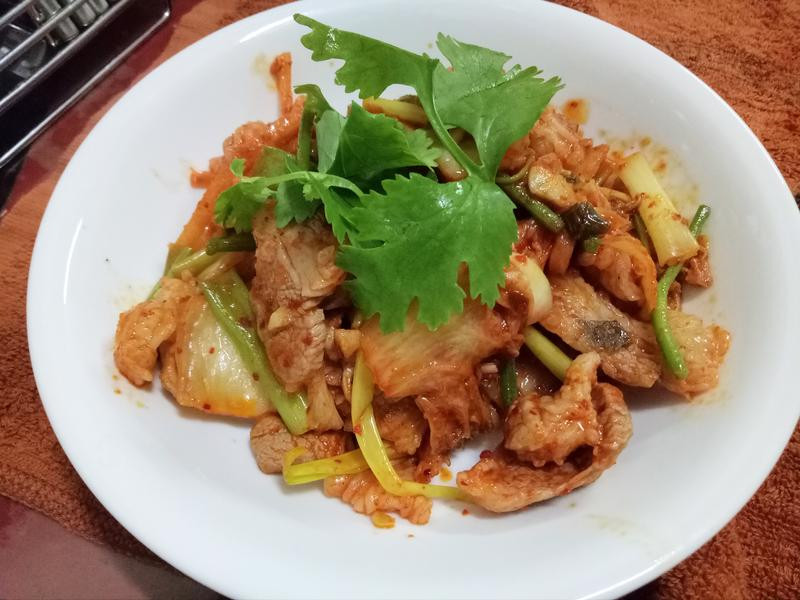 韓式泡菜炒肉片