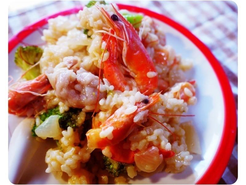 海味鮮蝦魚餃燉飯