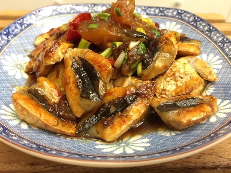 漬鳳梨醬燒虱目魚肚