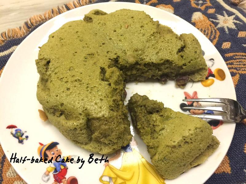 抹茶紅豆半熟蛋糕 - 無油版