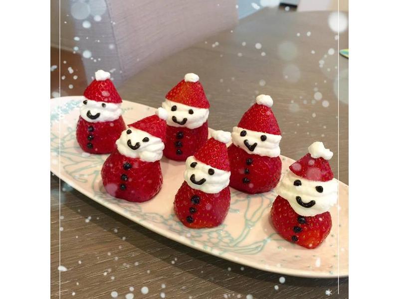 聖誕節-應景草莓鮮奶油聖誕雪人