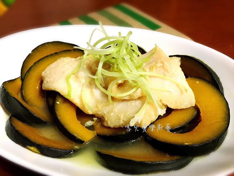 鹽麴魚蒸栗子南瓜