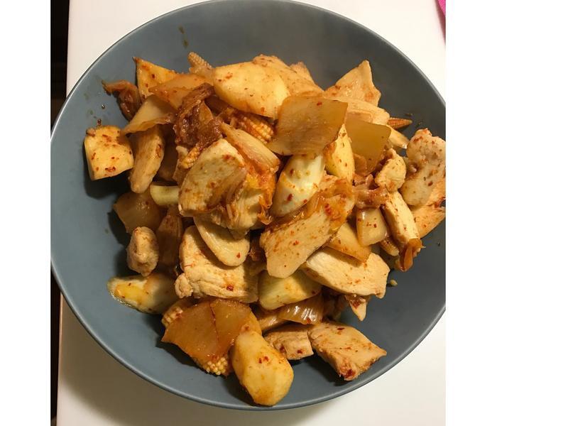 韓式炒筍雞