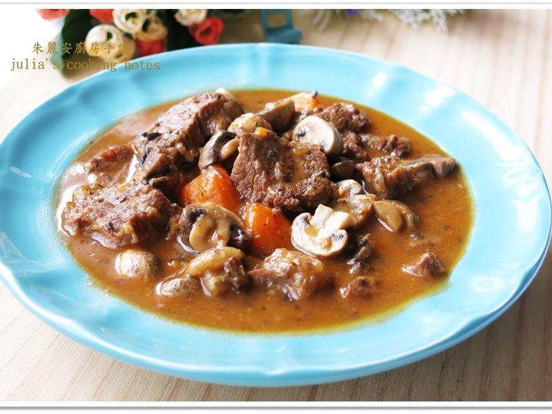 [西式蘑菇牛肉]醬汁濃郁味道鮮美