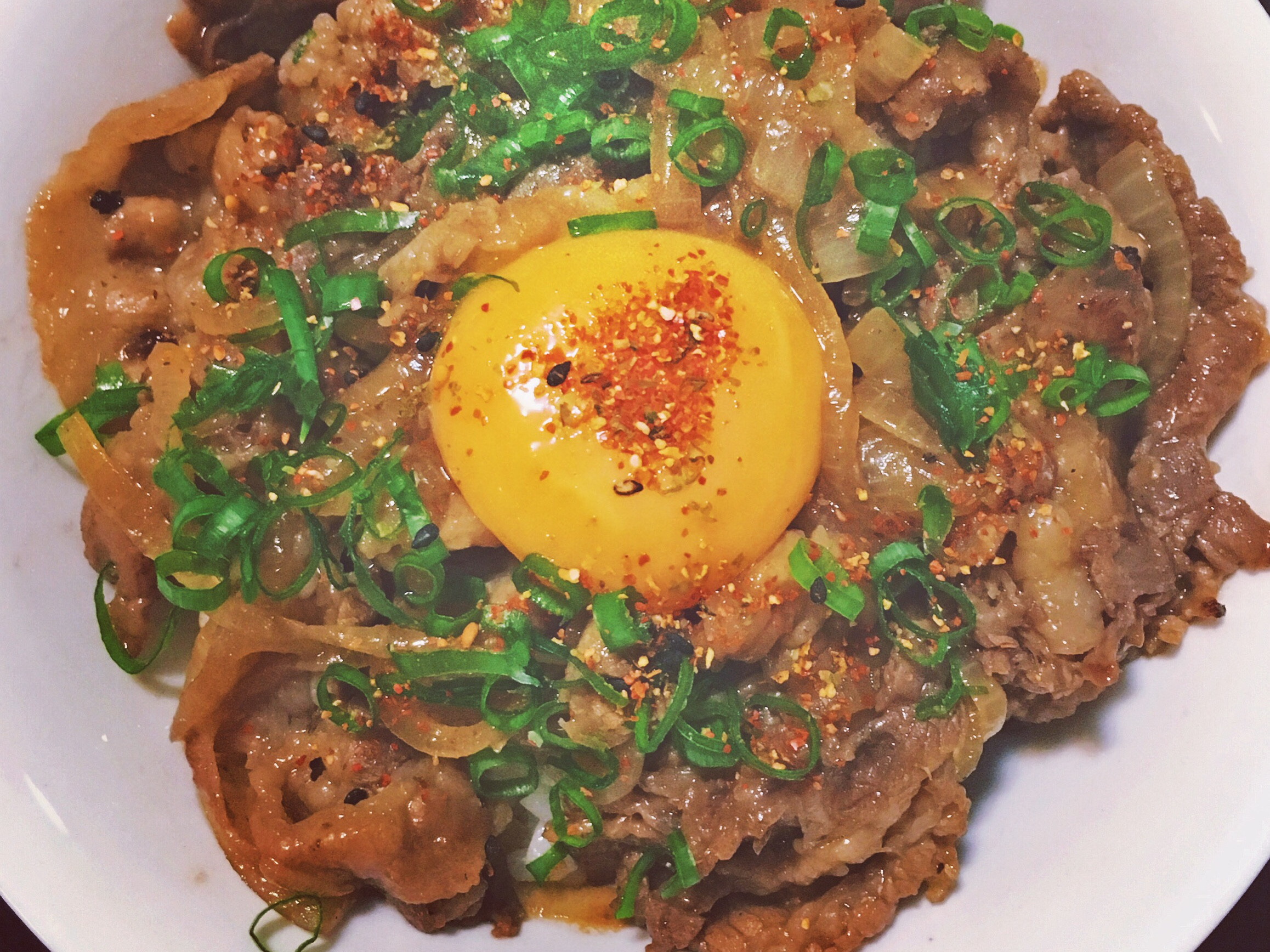 壽喜燒肉月見飯