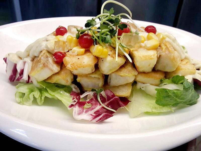 鯛魚鮮菜溫沙拉