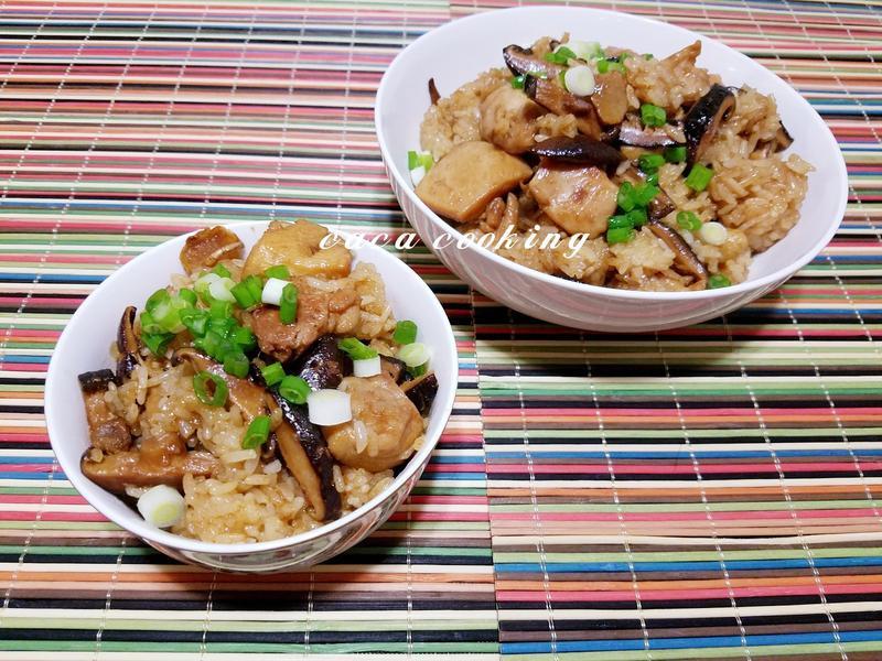 香菇麻油雞油飯