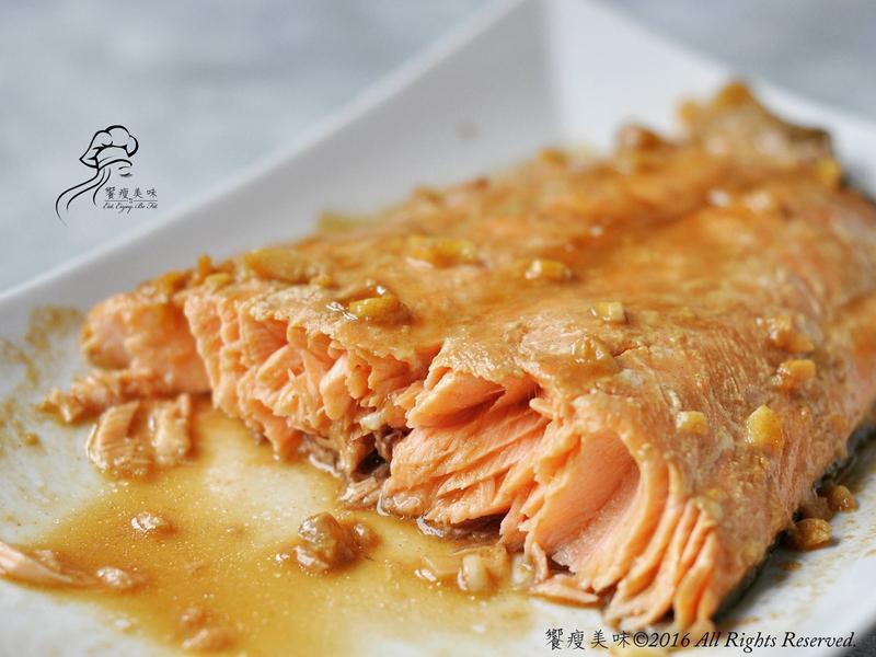 饗瘦美味-楓糖芥末醬烤鮭魚排