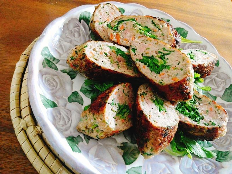 青蔬豬肉丸一超簡單,讓小孩吃蔬菜
