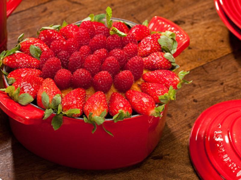 草莓杏仁蛋糕