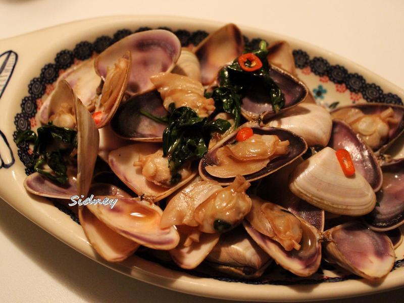 塔香炒蛤蜊