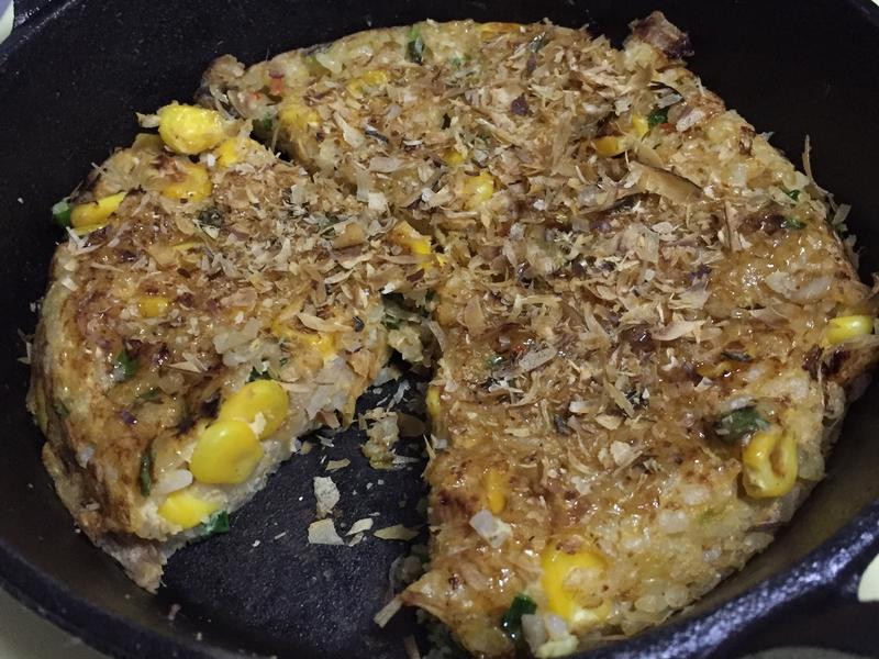 泡菜米飯大阪燒